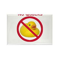 Rubber Duck: No Quacks Rectangle Magnet