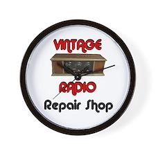 Vintage Radio Repair Shop Wall Clock