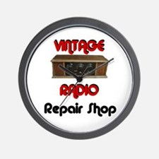 Vintage Radio Repair Shop Wall Clock
