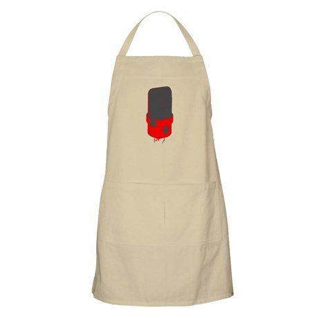 Vintage Microphone (Grey/Red) BBQ Apron
