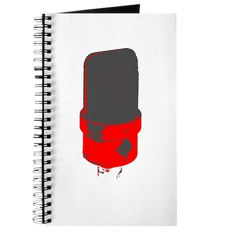 Vintage Microphone (Grey/Red) Journal