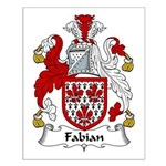 Fabian Family Crest  Small Poster