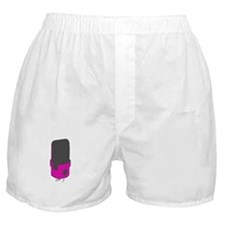 Vintage Microphone (Grey/Pink) Boxer Shorts