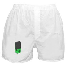 Vintage Microphone (Green/Grey) Boxer Shorts