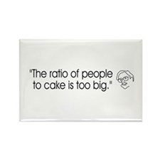 ::: Cake Ratio ::: Rectangle Magnet