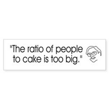 ::: Cake Ratio ::: Bumper Bumper Sticker