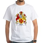Evett Family Crest White T-Shirt