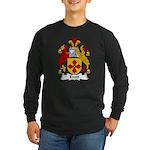 Evett Family Crest Long Sleeve Dark T-Shirt