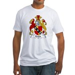 Evers Family Crest  Fitted T-Shirt