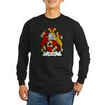Evers Family Crest Long Sleeve Dark T-Shirt