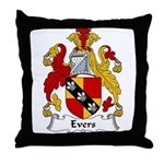 Evers Family Crest  Throw Pillow