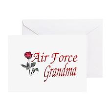 air force grandma Greeting Card