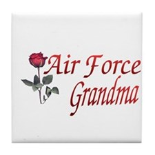air force grandma Tile Coaster