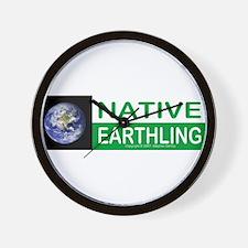 Native Earthling - Wall Clock