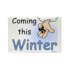 Coming this Winter Rectangle Magnet