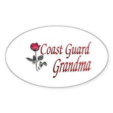 coast guard grandma Oval Decal
