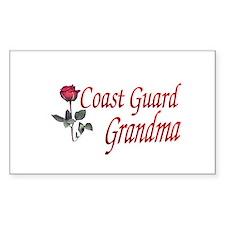 coast guard grandma Rectangle Decal