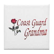 coast guard grandma Tile Coaster