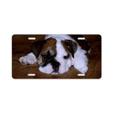Bull Dog Puppy Aluminum License Plate