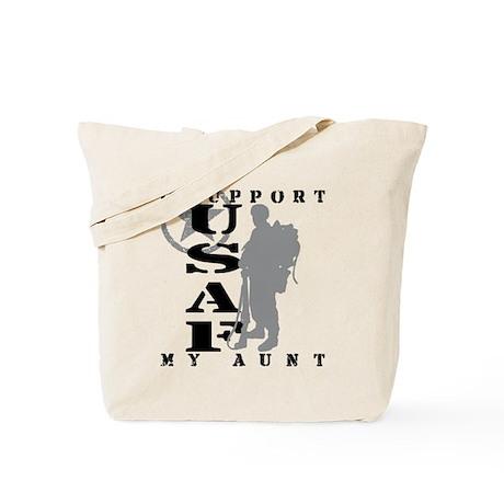 I Support Aunt 2 - USAF Tote Bag