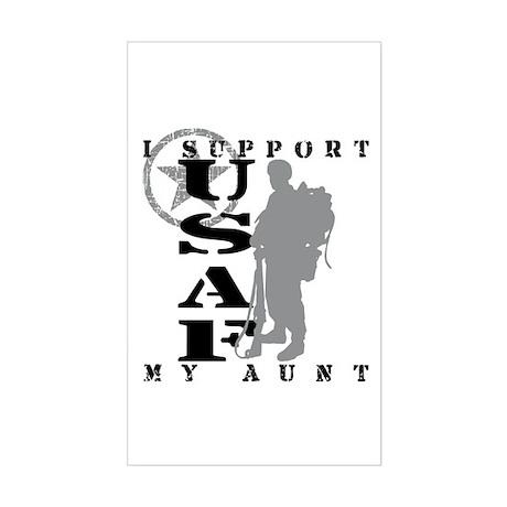 I Support Aunt 2 - USAF Rectangle Sticker
