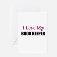 I Love My BOOK KEEPER Greeting Cards (Pk of 10)