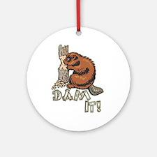 Dam It Ornament (Round)