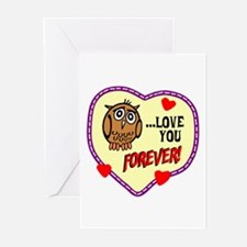 Owl Love You Forever Greeting Cards