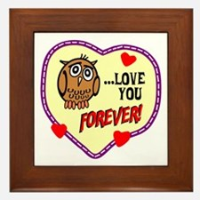 Owl Love You Forever Framed Tile