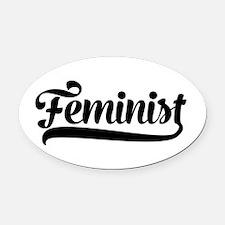Feminist Oval Car Magnet