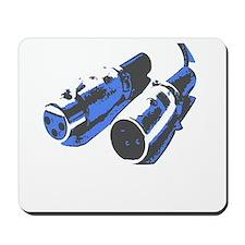 Grey/Blue Mousepad