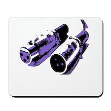 Black/Purple Mousepad