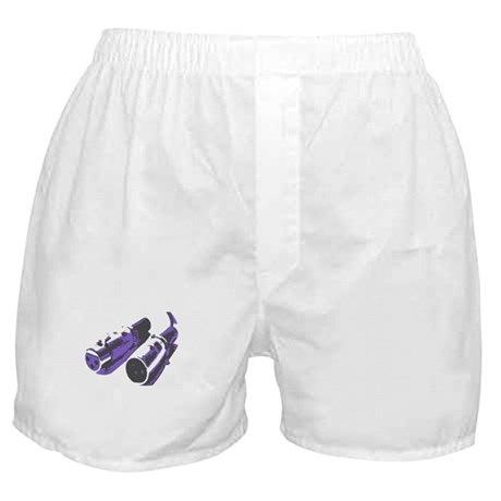 Grey/Purple Boxer Shorts