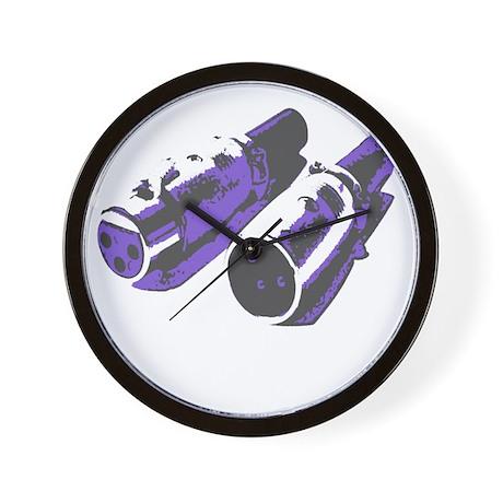 Grey/Purple Wall Clock