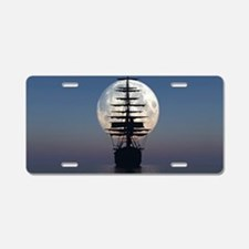 Ship Sailing In The Night Aluminum License Plate