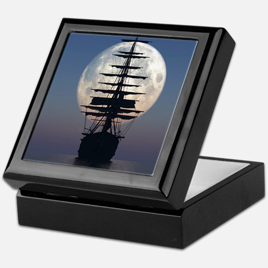 Ship Sailing In The Night Keepsake Box
