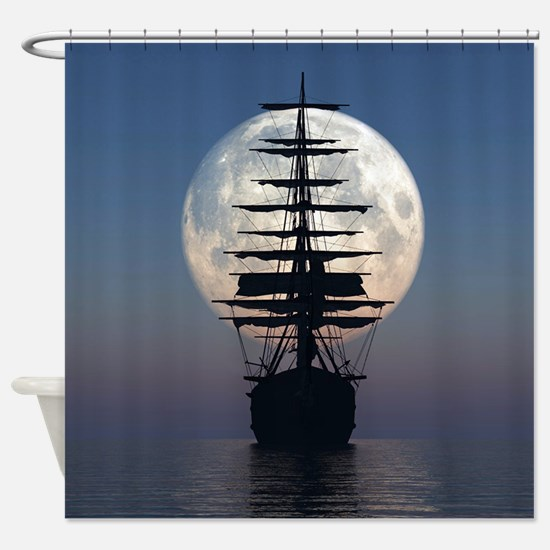 Ship Sailing In The Night Shower Curtain