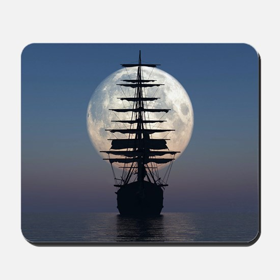 Ship Sailing In The Night Mousepad