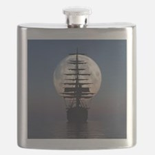 Ship Sailing In The Night Flask