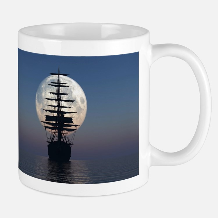 Ship Sailing In The Night Mugs