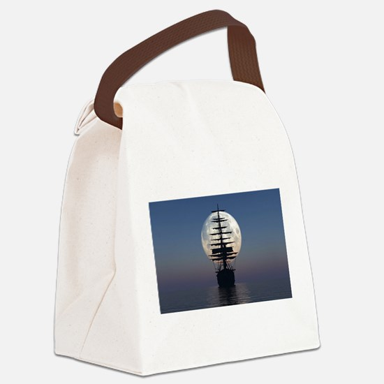 Ship Sailing In The Night Canvas Lunch Bag