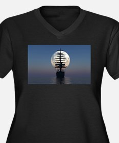 Ship Sailing In The Night Plus Size T-Shirt