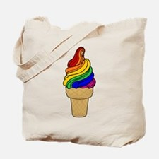 Rainbow Swirl Ice Cream Tote Bag