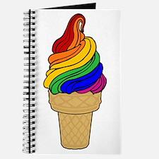 Rainbow Swirl Ice Cream Journal
