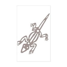 Climbing Lizard Rectangle Decal
