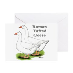 Roman Tufted Geese Greeting Cards (Pk of 10)