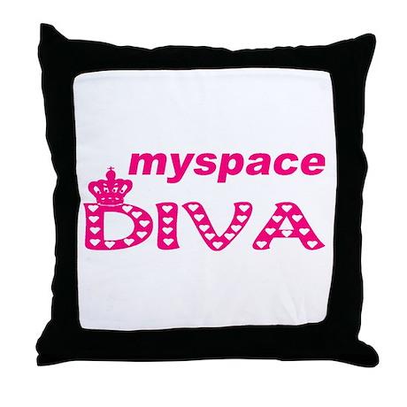 Myspace Throw Pillow