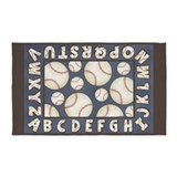 Alphabet baseball 3x5 Rugs