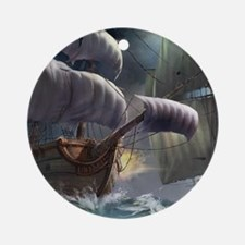 Battle Between Ships Ornament (Round)