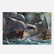 Battle Between Ships Postcards (Package of 8)